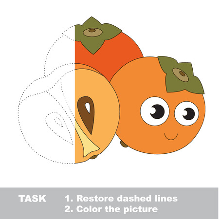 peachy: Persimmon to be colored. Vector trace game.