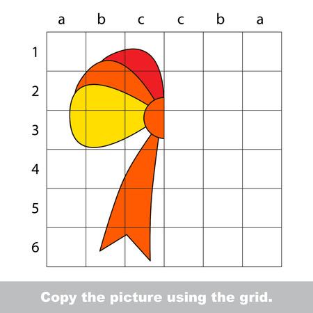 tutorial: Drawing tutorial for kids. Illustration