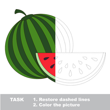 Fruit to be colored. Vector trace game.