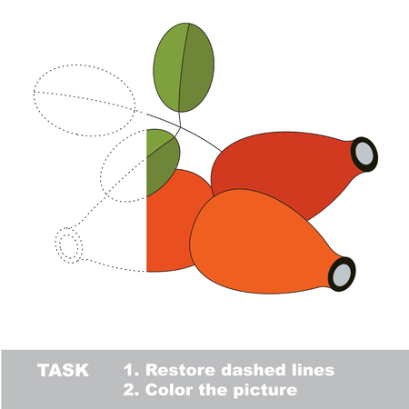 wildrose: Vector trace game with berry.