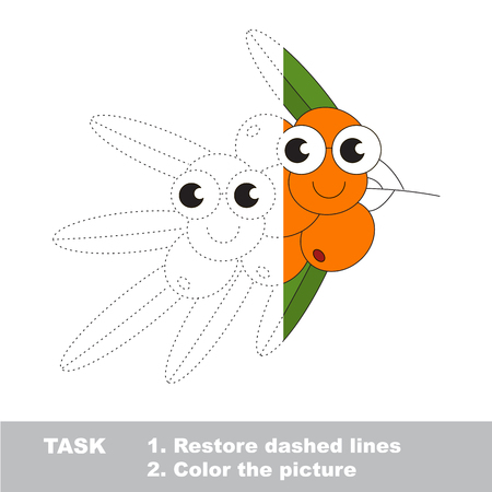 Buck thorn branch to be colored. Vector trace game. Illustration