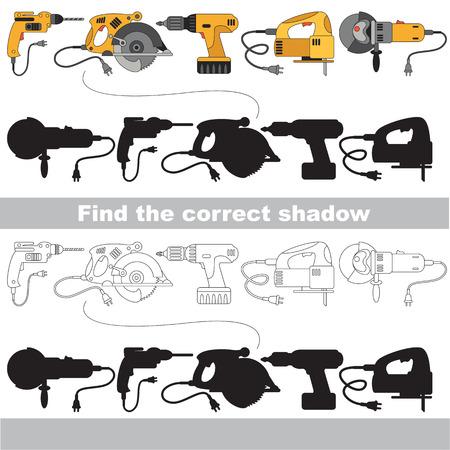 Ensemble d'outils du moteur. Trouvez l'ombre correcte.