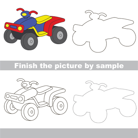 Drawing worksheet for Toy Transport. Illustration