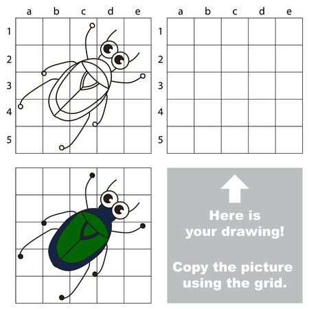 Copy the image using grid. Chafer.
