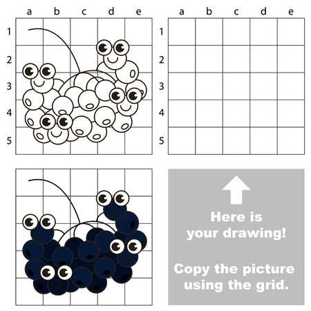chokeberry: Drawing tutorial. Game for Chokeberry. Illustration
