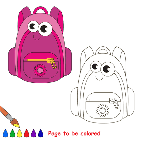 Conjunto De Materiales De Oficina Para Colorear. Libro Para Colorear ...