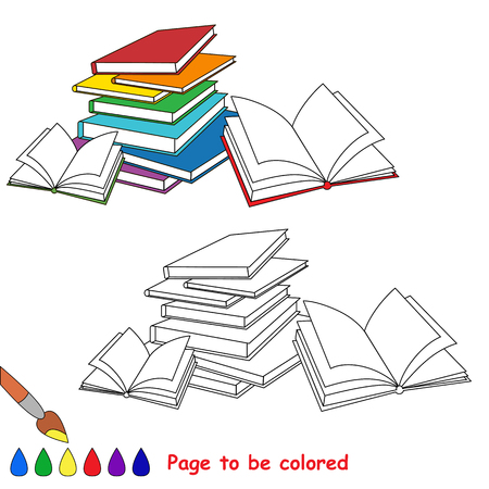 Many books to be colored, the coloring book to educate preschool kids with easy kid educational gaming and primary education of simple game level of difficulty.