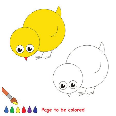 Pollo Amarillo Para Colorear, El Libro Para Colorear Para Educar A ...