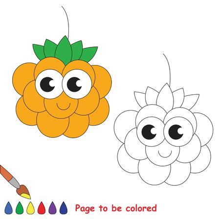Divertida Frambuesa Para Colorear. Libro De Colorear Para Educar A ...