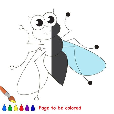Linda Mosca Para Colorear, El Libro Para Colorear Para Educar A Los ...