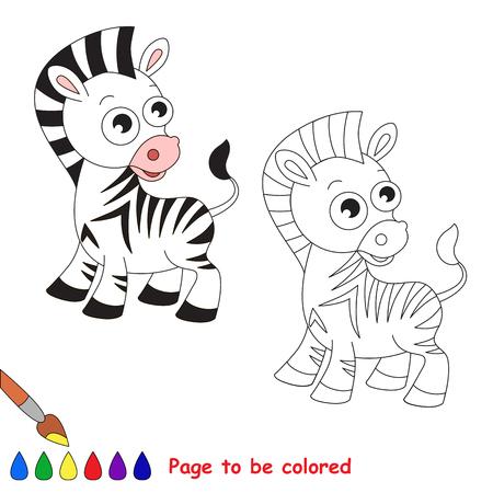 Funny Zebra Para Colorear. Libro De Colorear Para Educar A Los Niños ...