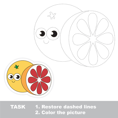 dashed: Vector trace educational game for preschool kids. Illustration