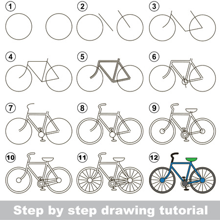 Drawing tutorial for preschool children. Ilustração
