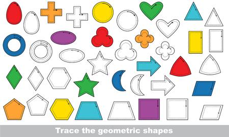 pondering: Vector trace educational game for preschool kids. Illustration