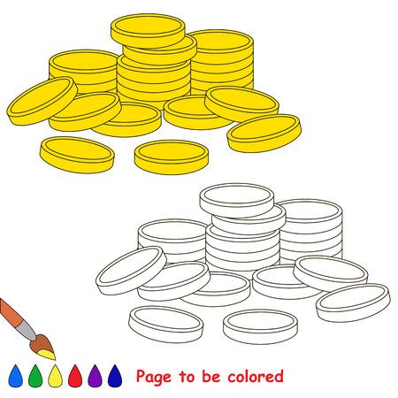 Dinero En Efectivo - Monedas De Oro Para Colorear, El Libro Para ...