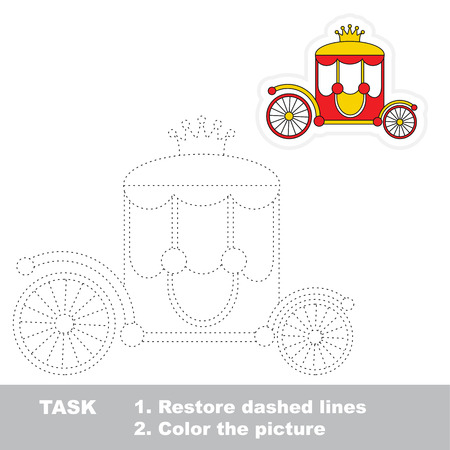 chariot: Chariot. Dot to dot educational tracing game for preschool kids. Illustration