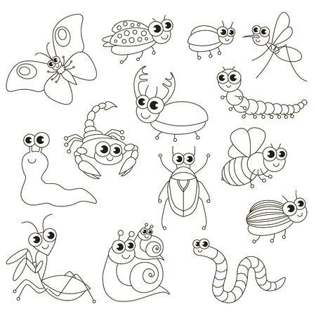 Pequeños Insectos Lindos Para Ser Coloreados, El Gran Libro Para ...