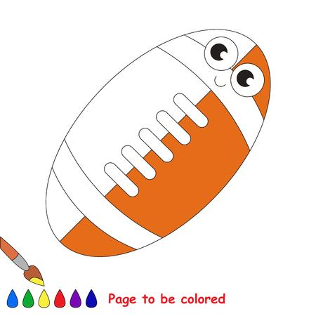 Balón De Fútbol Para Fútbol Americano, El Libro Para Colorear Para ...