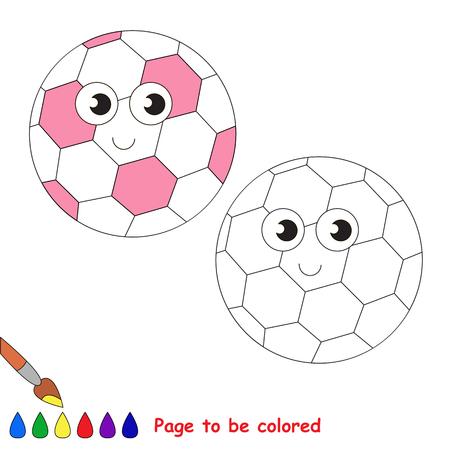Pelota De Fútbol Rosa Divertido Para Colorear, El Libro Para ...
