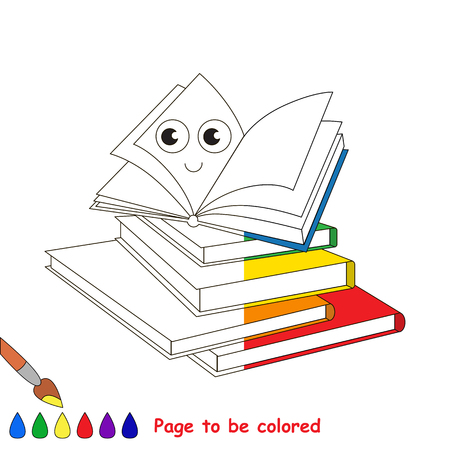 many babies: A lot of Happy Books, the coloring book to educate preschool kids with easy gaming level, the kid educational game to color the colorless half by sample.