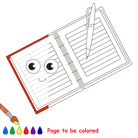 Copy Book, the coloring book to educate preschool kids with easy gaming level, the kid educational game to color the colorless half by sample.