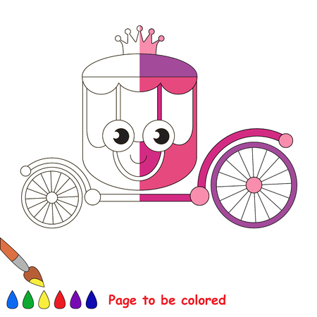 chariot: _, the coloring book to educate preschool kids with easy gaming level, the kid educational game to color the colorless half by sample.
