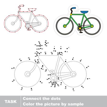 自転車。ドット ドット教育ゲーム子供のため、タスク番号でドットを接続することです。