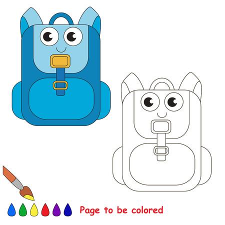 Bolso De Escuela Verde Para Colorear, El Libro Para Colorear Para ...