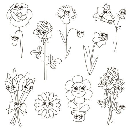 Flower Face Zu Färben, Das Malbuch Für Vorschulkinder Mit Einfachen ...