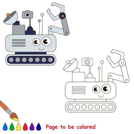 lunar rover: Lunar Rover to be colored, the coloring book for preschool kids with easy educational gaming level.