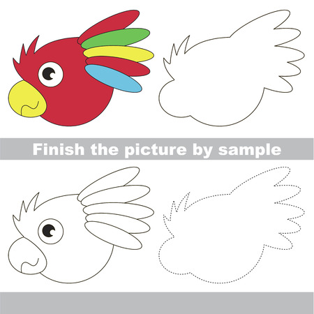 Drawing Worksheet For Preschool Kids With Easy Gaming Level Of Difficulty Simple Educational Game