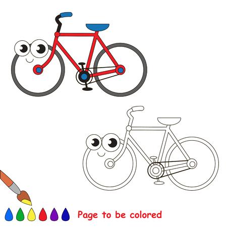 Bicicleta De Dos Ruedas Para Colorear, El Libro Para Colorear Para ...