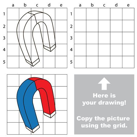 Copiez l'image à l'aide de lignes de grille. Banque d'images - 76569640