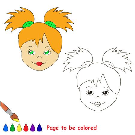 Visi Di Bambini Da Colorare.Vettoriale Bambola Faccia Da Colorare Il Libro Da Colorare Per