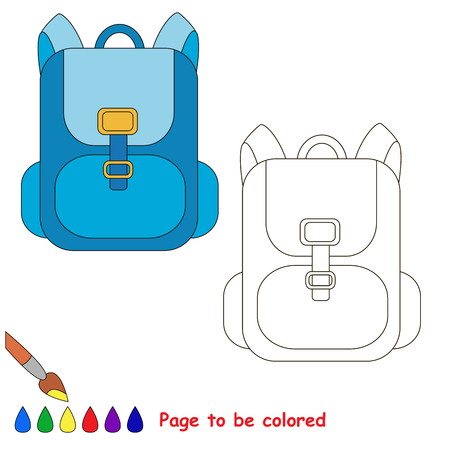 Page to be colored, simple education game for kids. 向量圖像