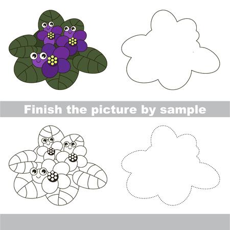 Zeichnen Arbeitsblatt Für Kinder Im Vorschulalter Mit Einfachen ...