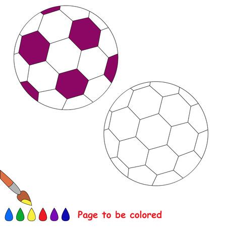 Balón De Fútbol Para Colorear, El Libro Para Colorear Para Educar A ...