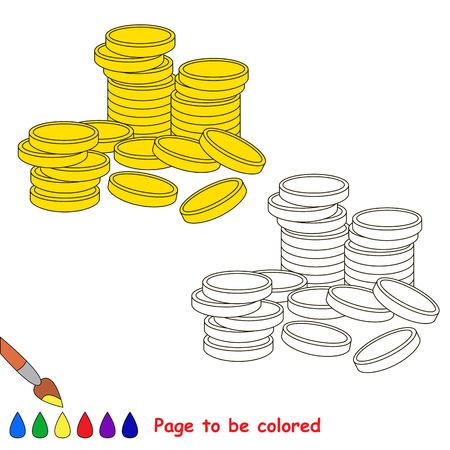 Seite Zu Färben, Einfache Bildungsspiel Für Kinder. Lizenzfrei ...