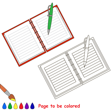 Copybook to be colored, the coloring book for preschool kids with easy educational gaming level.