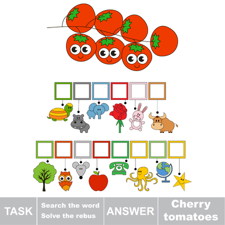 answer: Educational puzzle game for kids. Find the hidden word Cherry Tomatoes