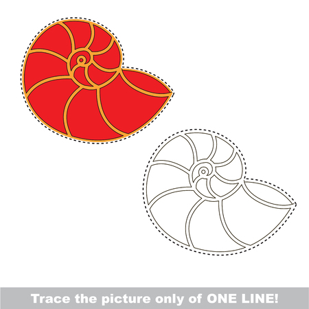 Seashell. Dot to dot educational game for kids.