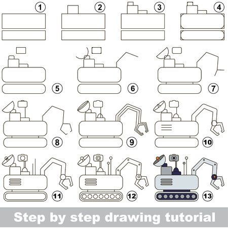 lunar rover: Kid game to develop drawing skill with easy gaming level for preschool kids, drawing educational tutorial for Lunar Rover