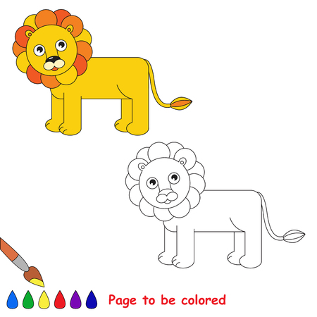 logica: Page to be colored, simple education game for kids. Vectores