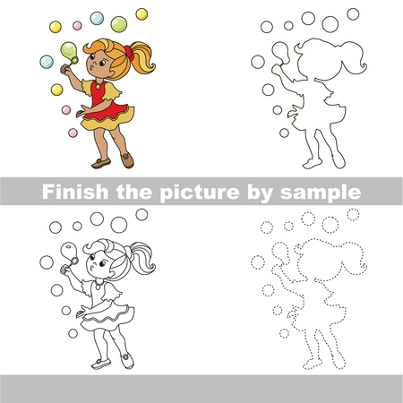 drawing worksheet for preschool kids with easy gaming level of difficulty simple educational game for - Simple Drawing For Kid