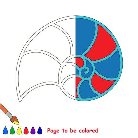Nautilus Shell, El Libro Para Colorear Para Educar A Los Niños En ...