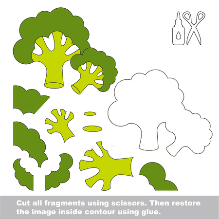 Use scissors and glue and restore the picture inside the contour. Easy educational paper game for kids.
