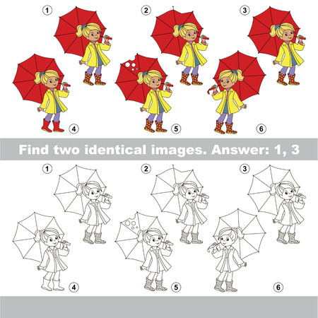 Visual game for kids to find hidden couple of objects.