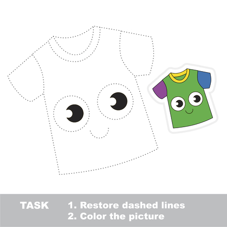Funny T-Shirt. Dot to dot educational game for kids.