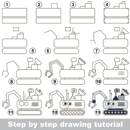Kid game to develop drawing skill with easy gaming level for preschool kids, drawing educational tutorial
