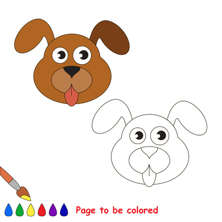 Dog Face To Be Colored, The Coloring Book For Preschool Kids ...